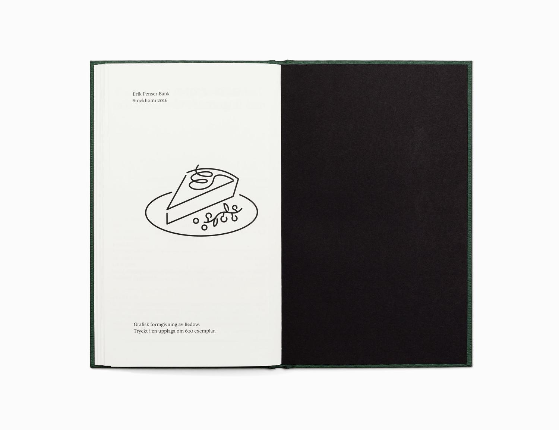 Cookbook Christmas gift by Bedow for Erik Penser Bank 2016
