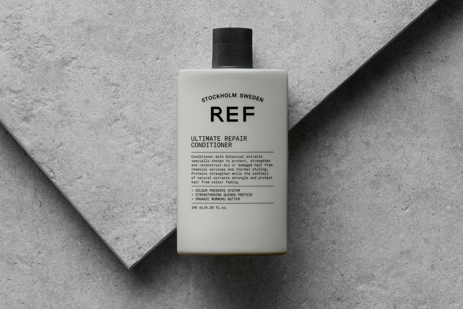 Visual identity and package design by Scandinavian studio Kurppa Hosk for Swedish hair care brand REF