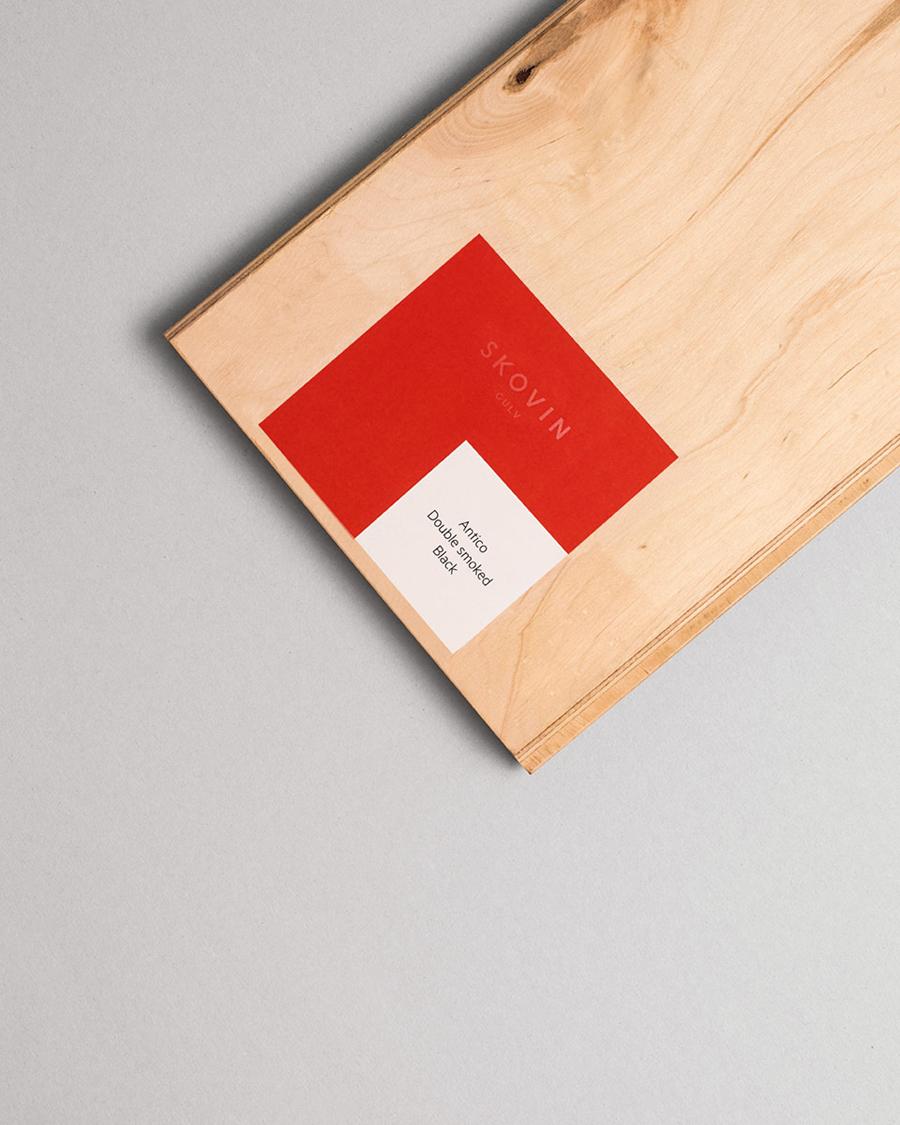 Stickers designed by Heydays for Norwegian high-end wood flooring specialist Skovin