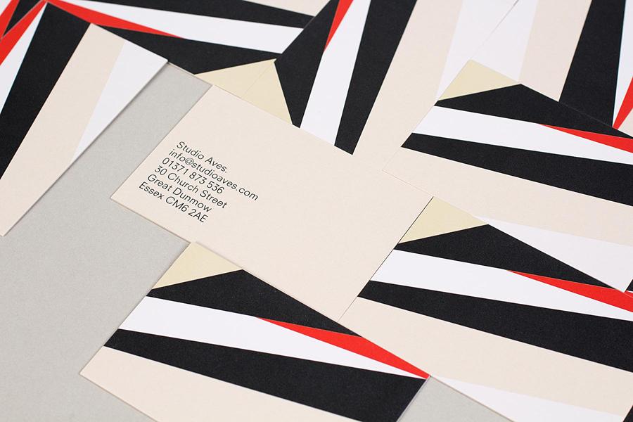 Business cards designed by Build for British typographic design studio Studio Aves