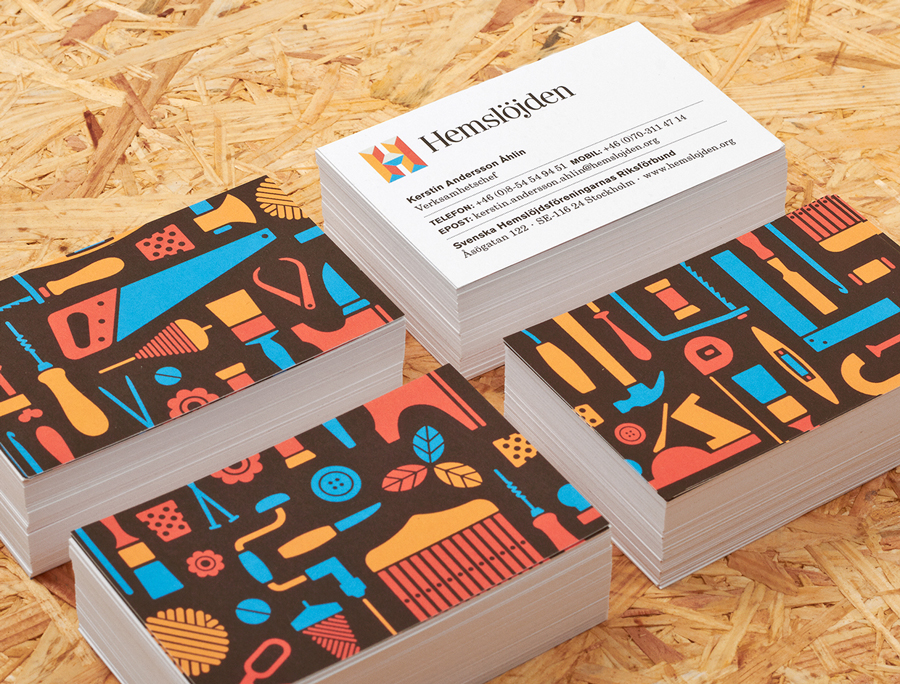 Business cards for Swedish Handicraft Societies designed by Snask
