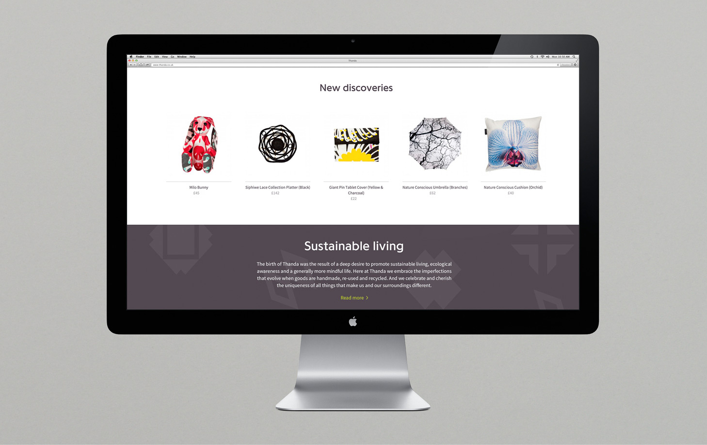 Brand identity and website by UK graphic design studio Karoshi for conscientious interior accessory business Thanda