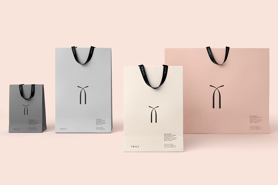 Branding for Chinese luxury accessory brand Twice by London based graphic design studio Socio Design