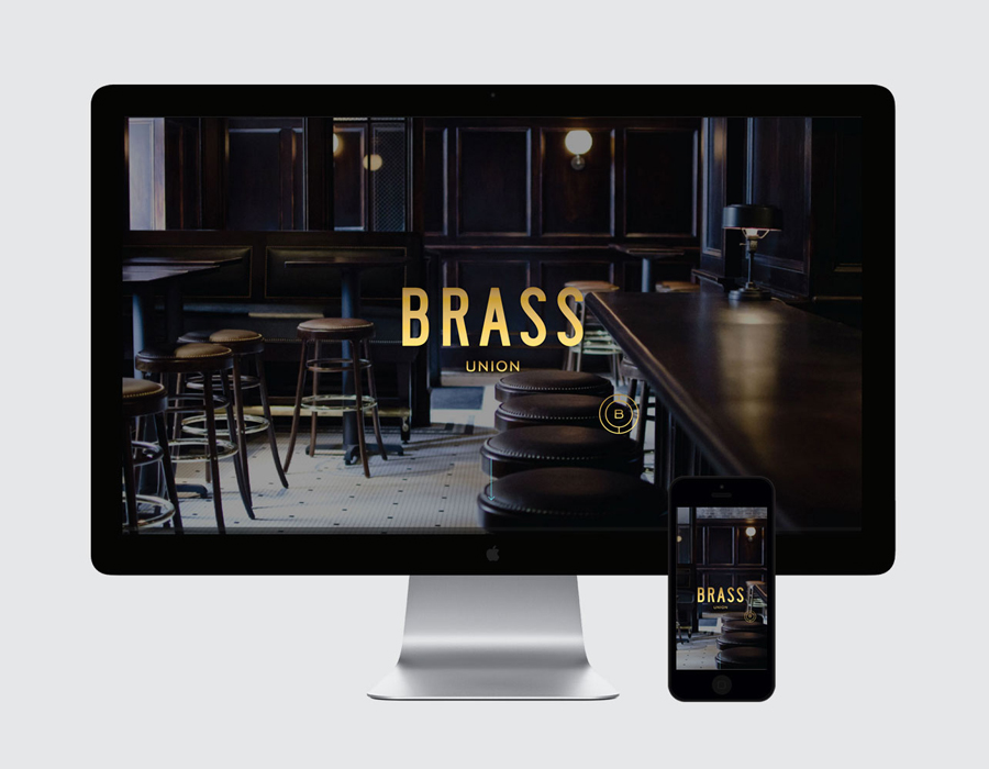 Visual identity and website for Somerville pub and cocktail bar Brass Union designed by Oat