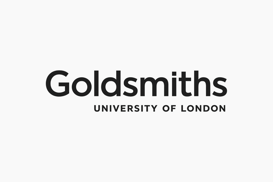 Sans-serif logotype for Goldsmiths, University of London by UK based graphic design studio Spy