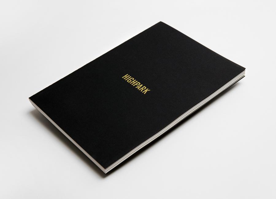13 Highpark Gold Foil Black Hard Cover Brochure by Face Creative on BPO