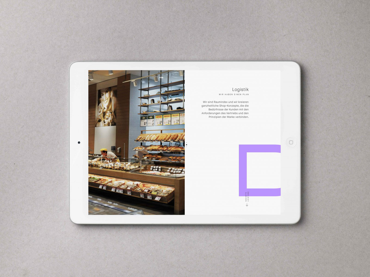 Brand identity and responsive website by Graz and Wien-based Moodley for Austrian shop design studio Raumindex