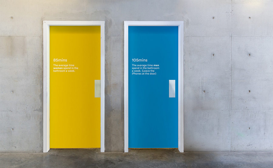 Door decals by RE: for digital architecture and documentation service Ridley