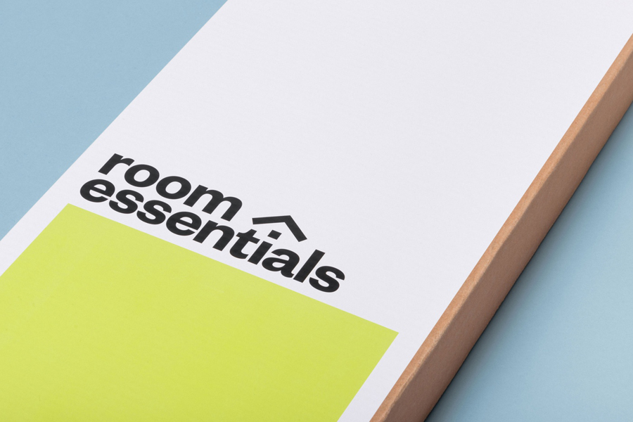 Logotype and packaging by Collins for Target's modernistic home furnishings range Room Essentials
