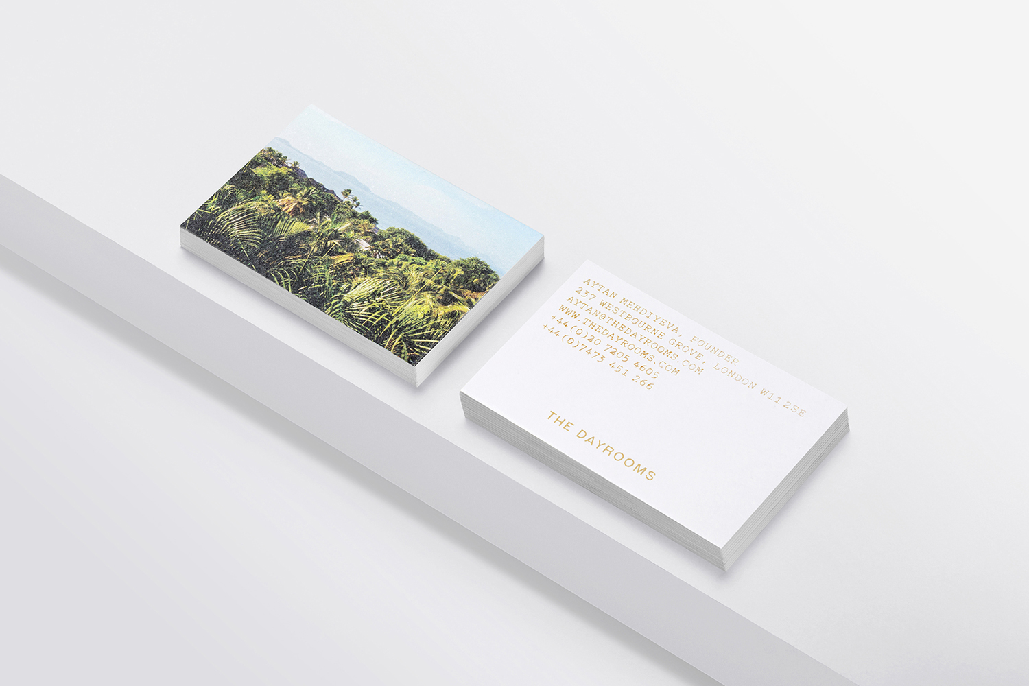 Brand identity and business cards designed by Two Times Elliott for Australian fashion boutique in London The Dayrooms