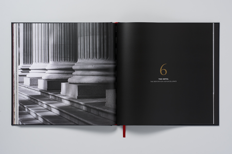 Private residency marketing book for Ten Trinity Square designed by Pentagram