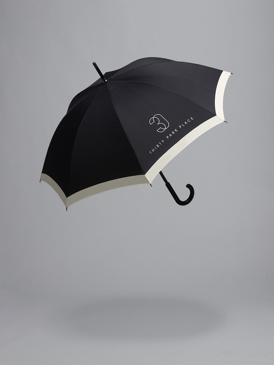 Umbrella for Four Seasons private residence Thirty Park Place designed by Mother