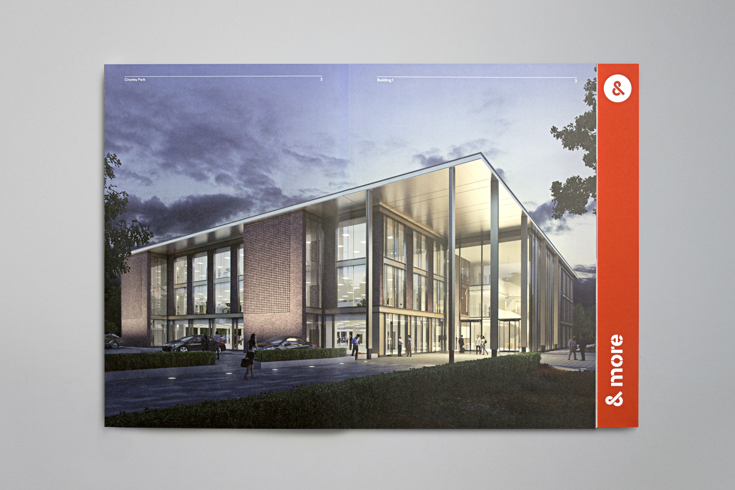 Brochure spread by Blast for UK business park Croxley Park