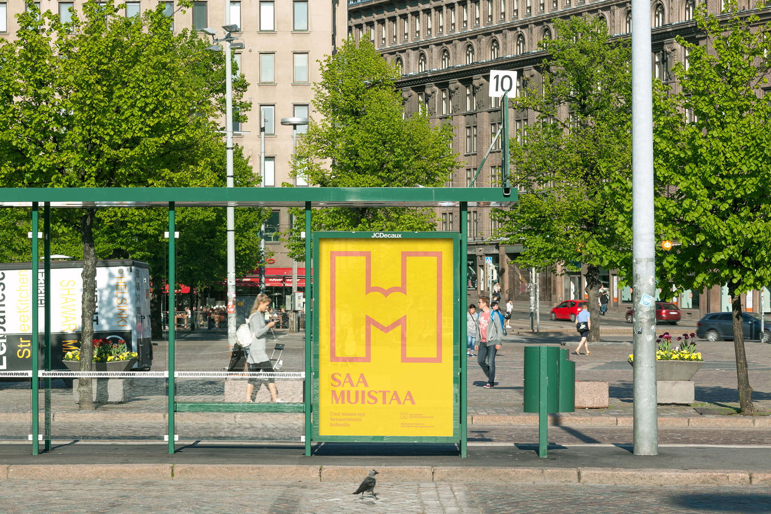 Brand identity and print campaign by Finnish graphic design studio Werklig for Helsinki City Museum