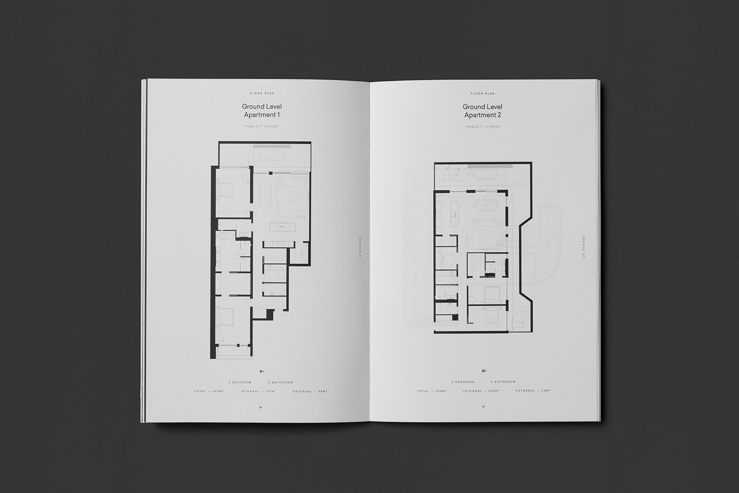 Brochure by Studio Brave for East Melbourne residential apartments George + Powlett