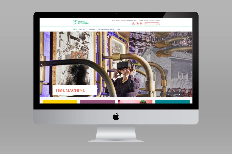 Branding and website design by Byroo and Werklig for Helsinki City Museum