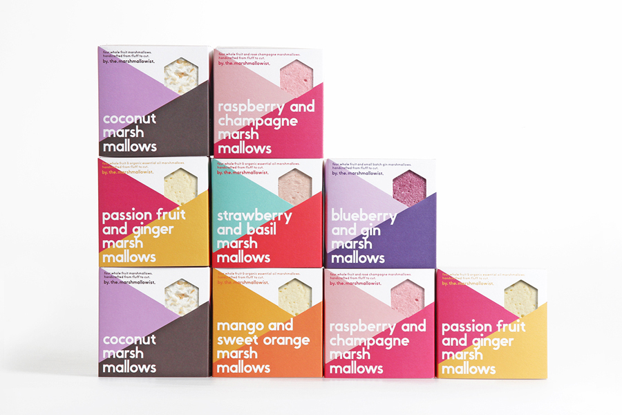 Branding and packaging for The Marshmallowist by Veronica Lethorn