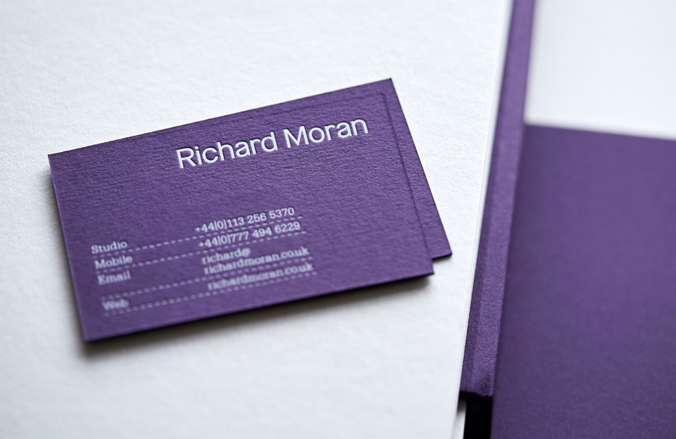 Brand identity and business card for UK photographer Richard Moran by Leeds based graphic design studio Journal