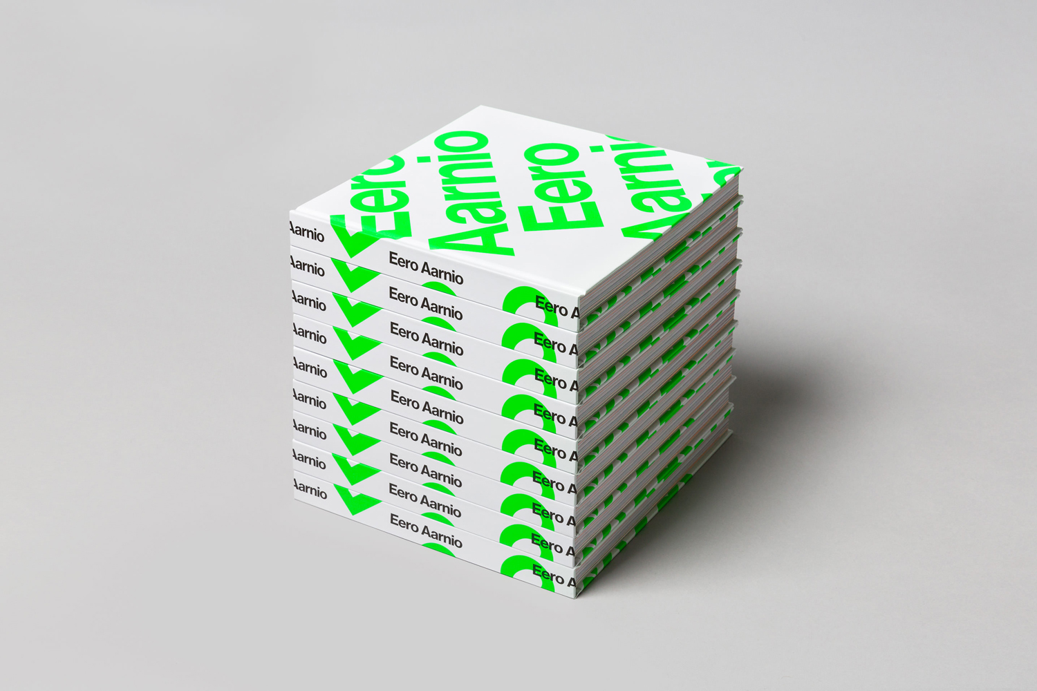 Eero Aarnio Book with fluorescent green ink detail designed by Bond, Finland