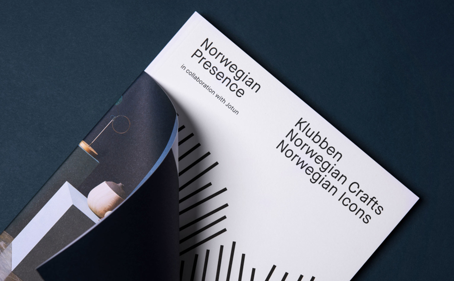 Exhibition catalogue for furniture exhibition Norwegian Presence by Bielke & Yang, Norway