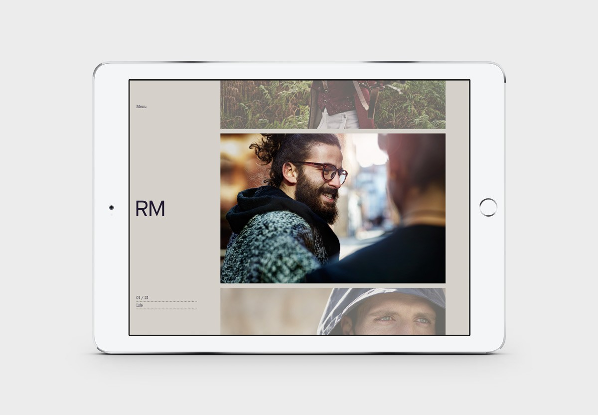 Brand identity and responsive website for UK photographer Richard Moran by Leeds based graphic design studio Journal