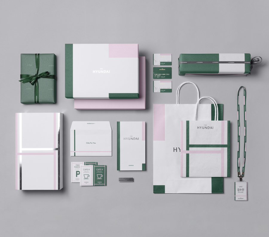 Branding for South Korean department store The Hyundai by graphic design company Studio fnt