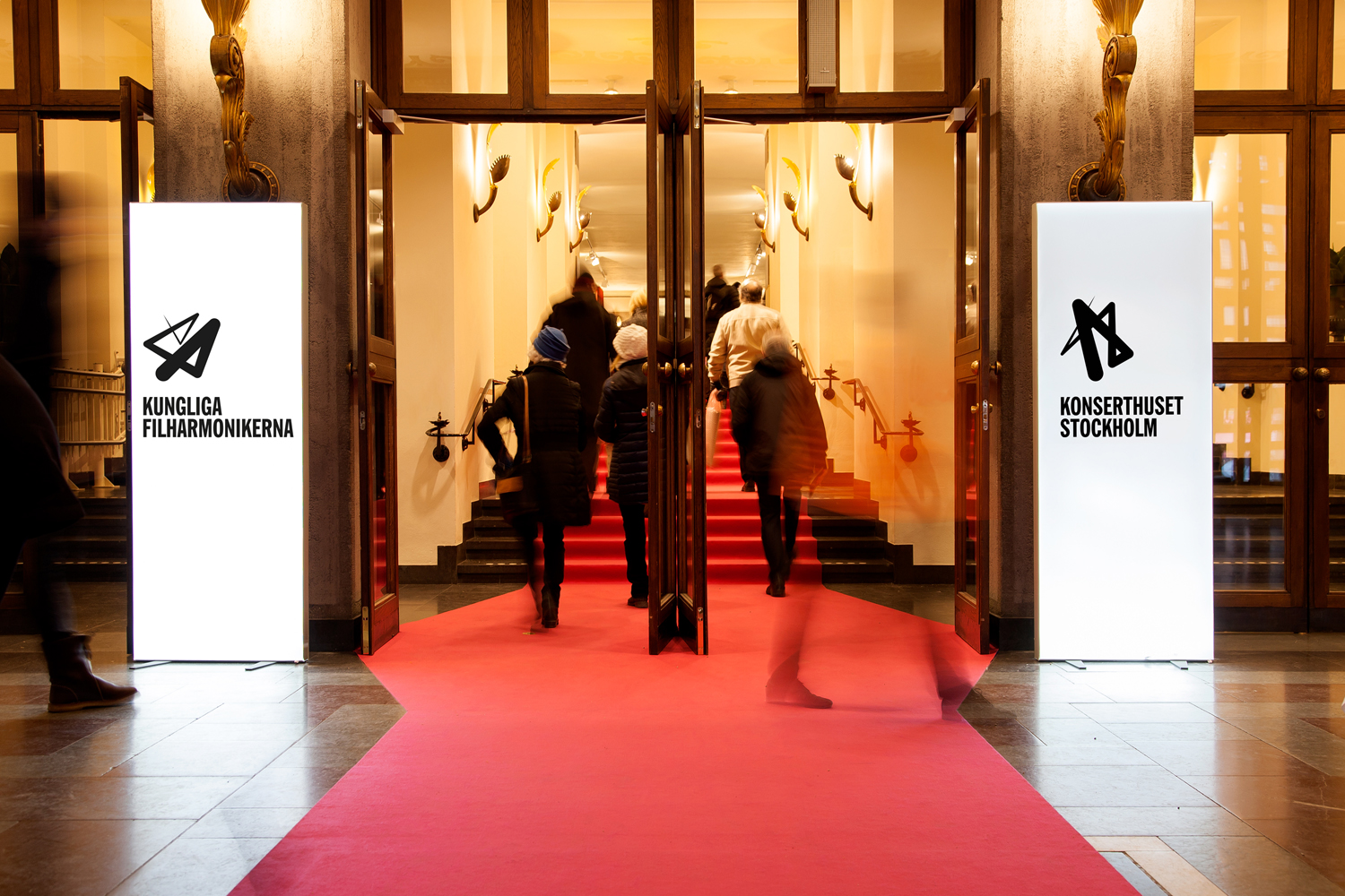 Logo, stationery and posters by Kurppa Hosk for cultural institution Konserthuset and the Royal Stockholm Philharmonic Orchestra