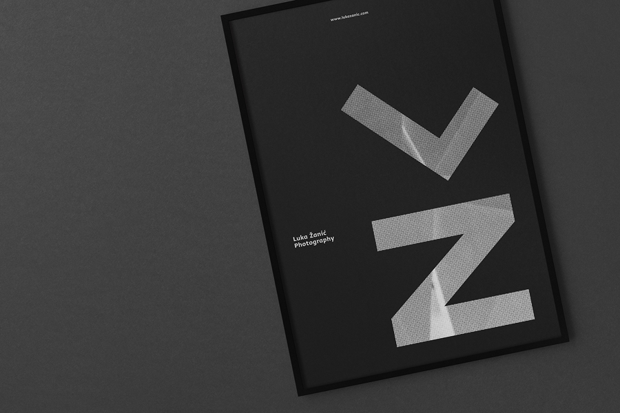 Poster by Studio8585 for architectural photographer Luka Žanić