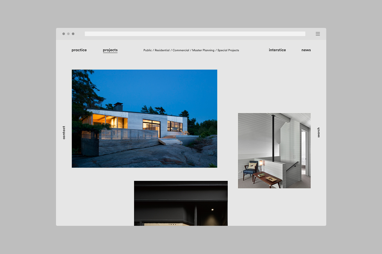 Brand identity and website by Toronto-based graphic design studio Blok for Canadian architecture firm Superkül