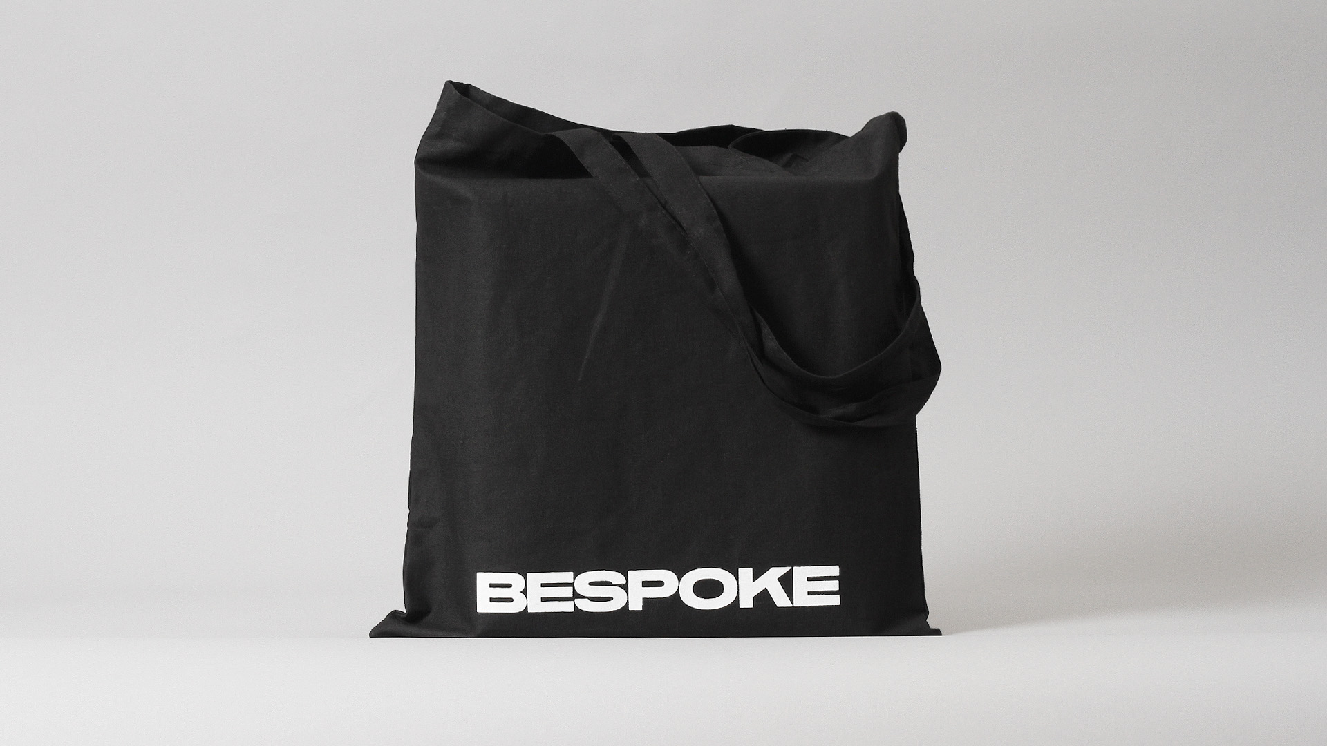 Branded tote bag by New York based DIA for boutique retouching business Bespoke