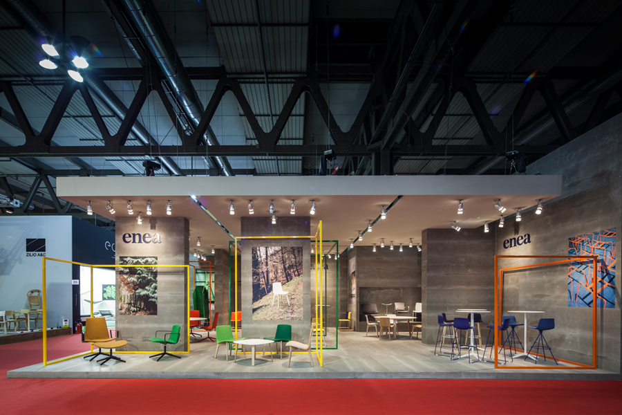 Exhibition stand for contemporary furniture business Enea designed by Clase bcn
