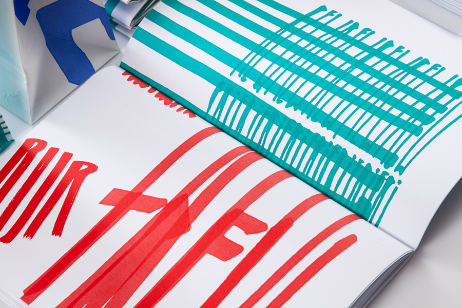 Print design by Marks for material and print finish exhibition Rendez-vous des créateurs 2014