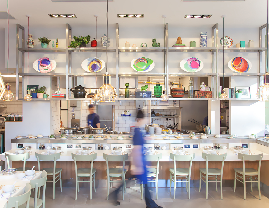 Interior design for contemporary hotpot restaurant Shuang Shuang by ico Design, United Kingdom