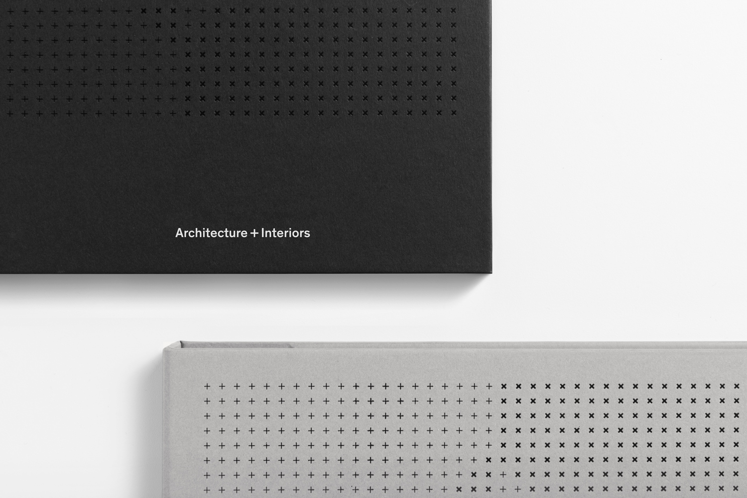 Print finish detail of Studio South's brand identity work for Auckland-based architecture and interior business Verso