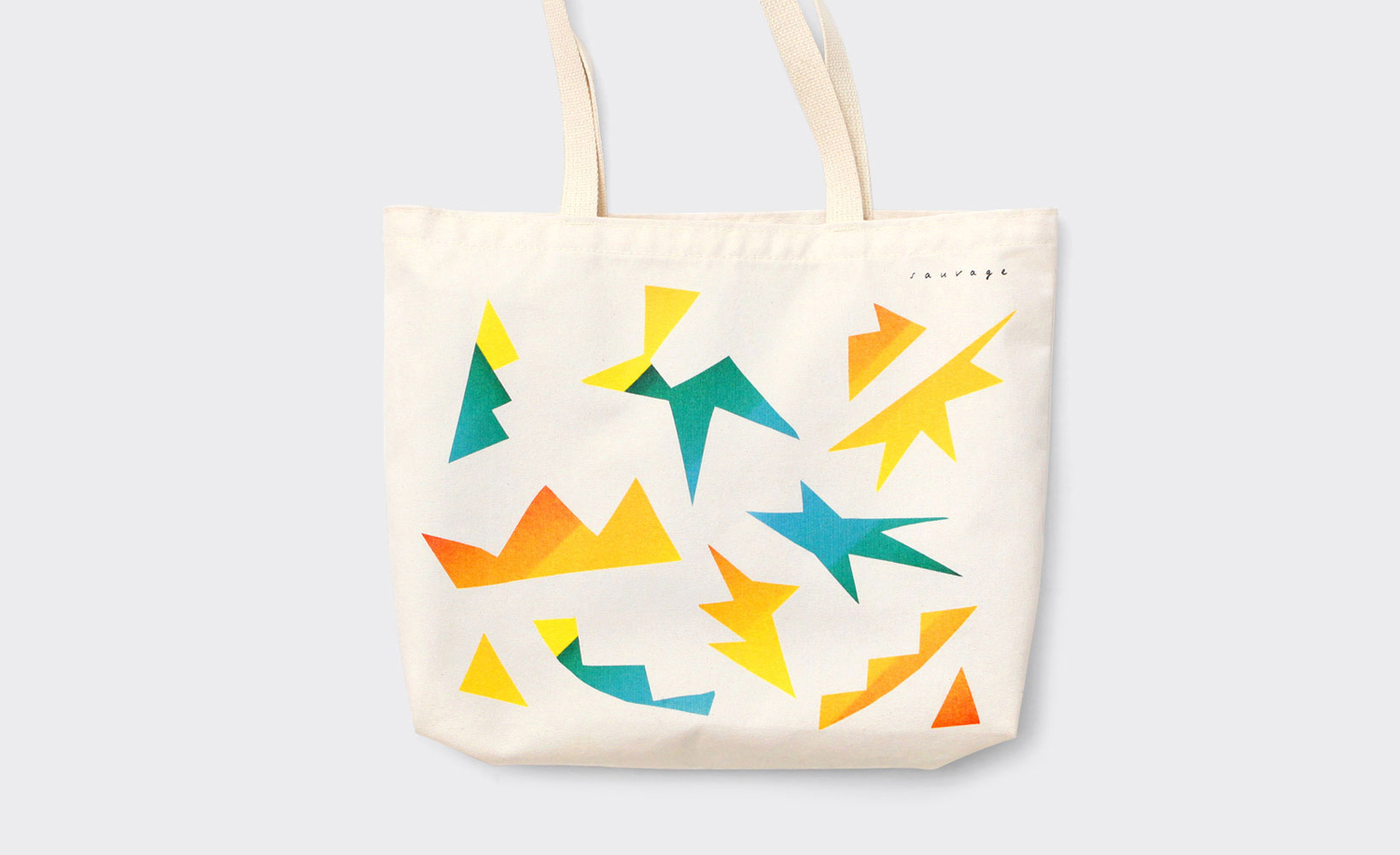 Brand identity and tote bag by New York design studio Triboro for Brooklyn cafe and bar Sauvage