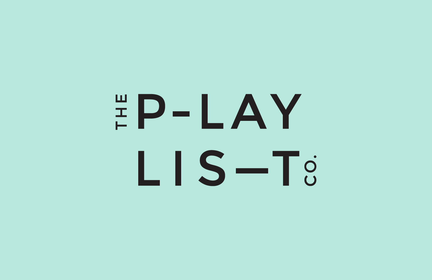 Sans-serif logotype for Toronto based custom event soundtrack business The Playlist Co. by graphic design studio Blok