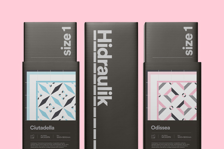 Logo, visual identity and package design by Huaman Studio for mat and rug business Hidraulik