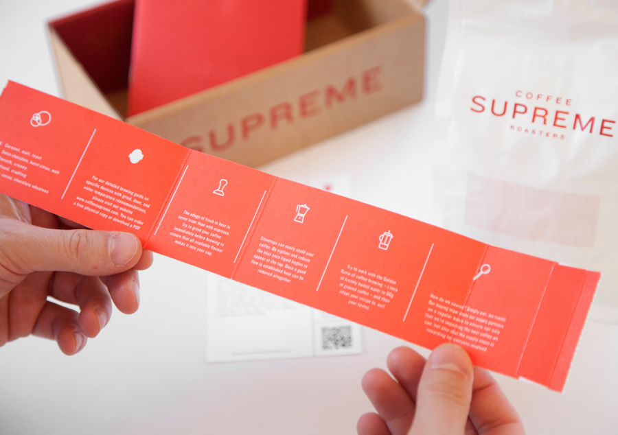 Labels designed by Marx Design for independent coffee roaster Coffee Supreme