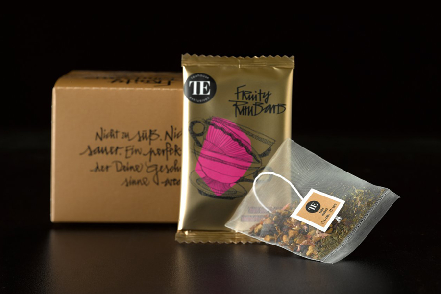 Tea packaging for Teahouse Exclusives designed by Peter Schmidt Group