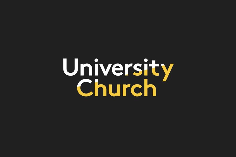 LL Brown sans-serif logotype for University Church designed by Spy