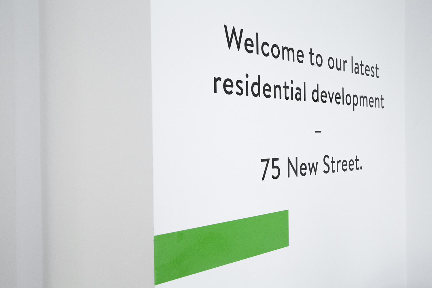 Branding and wayfinding for commercial and residential property developer Learig designed by The District, United Kingdom