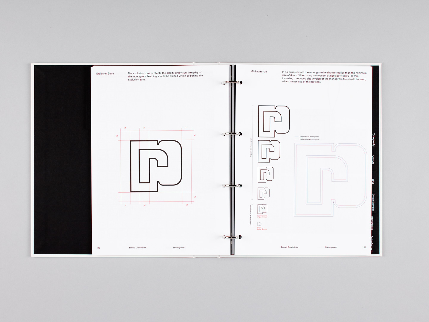 Brand identity document for French fashion label Paco Rabanne by Zak Group, United Kingdom