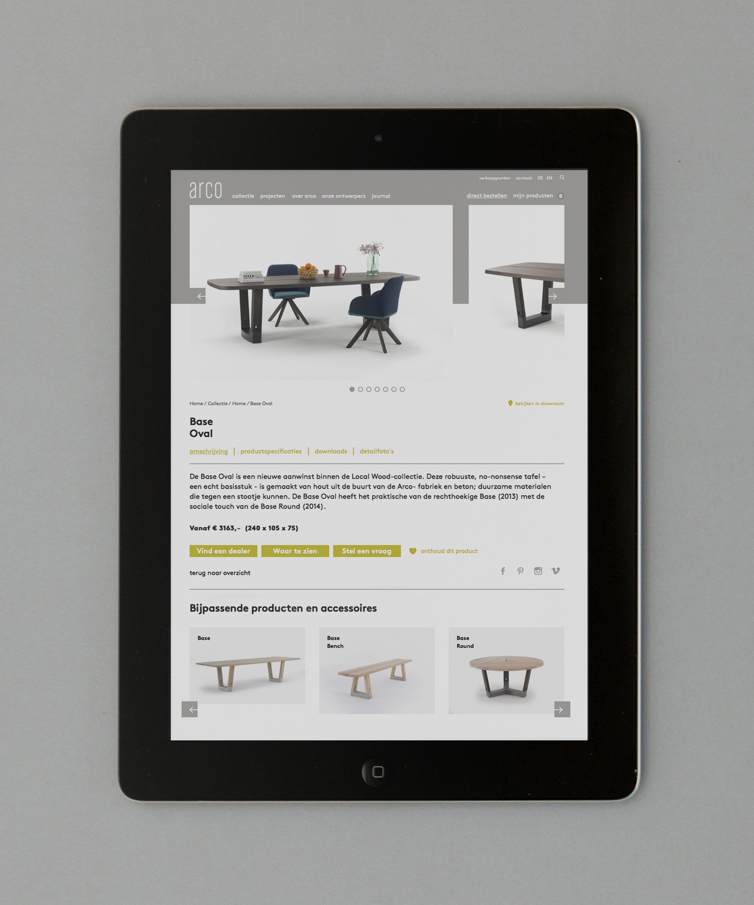 Brand identity and website for furniture manufacturer Arco by Raw Color, The Netherlands