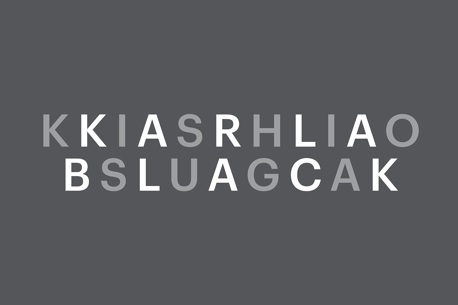 Logotype for the exhibition Karla Black + Kishio Suga: A New Order at the Scottish National Gallery of Modern Art designed by O Street, UK