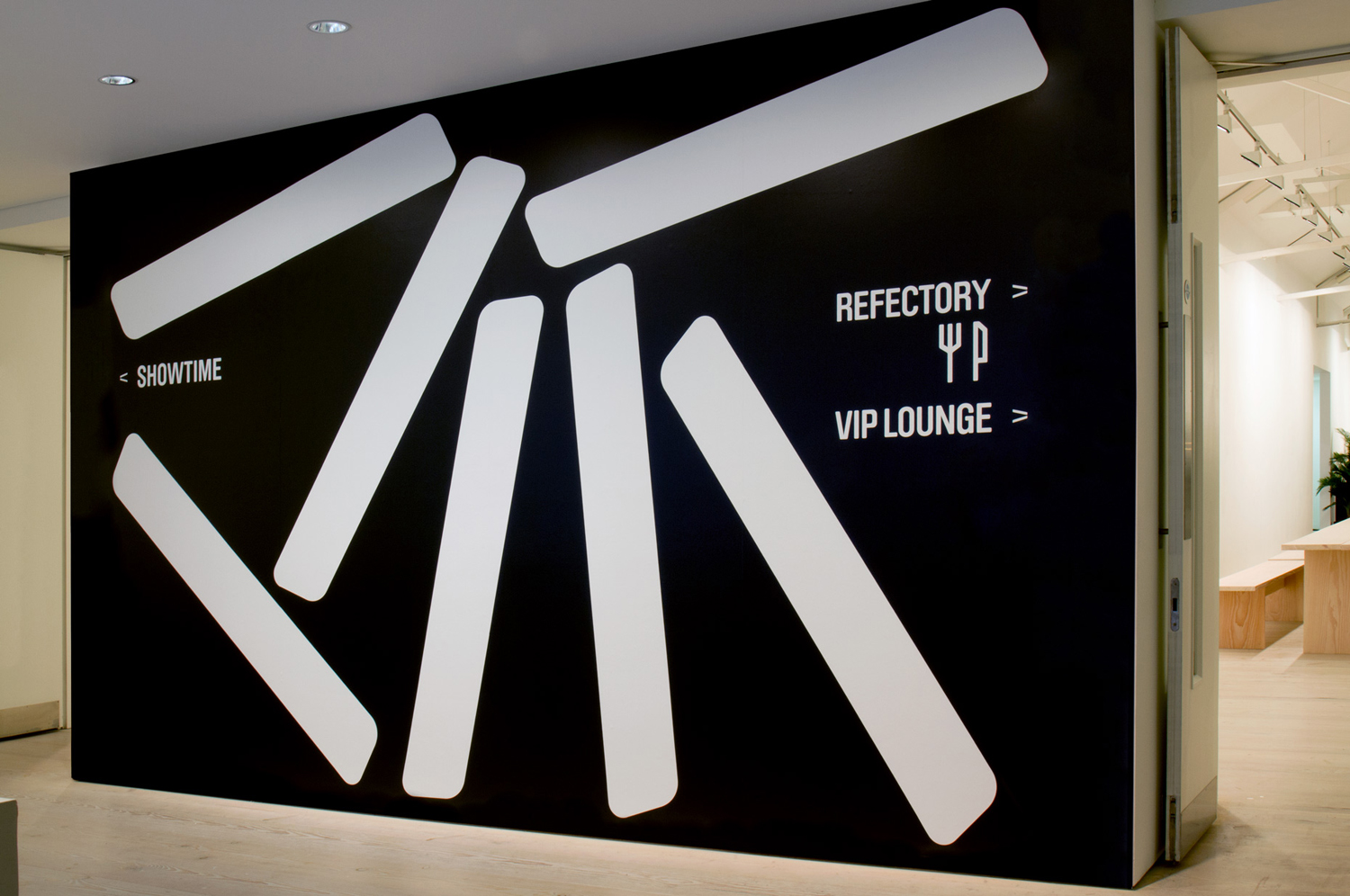 Iconography, wayfinding and supergraphics for contemporary international art fair Collect, designed by Spin, London, UK