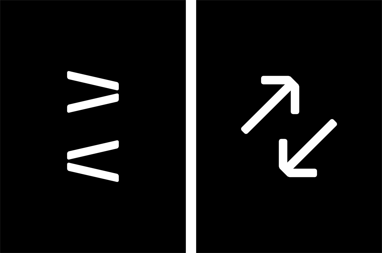 Wayfinding iconography for contemporary international art fair Collect, designed by Spin, London, UK