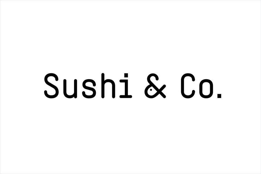 Monospace logotype for Baltic Sea cruise ship restaurant Sushi & Co. designed by Bond
