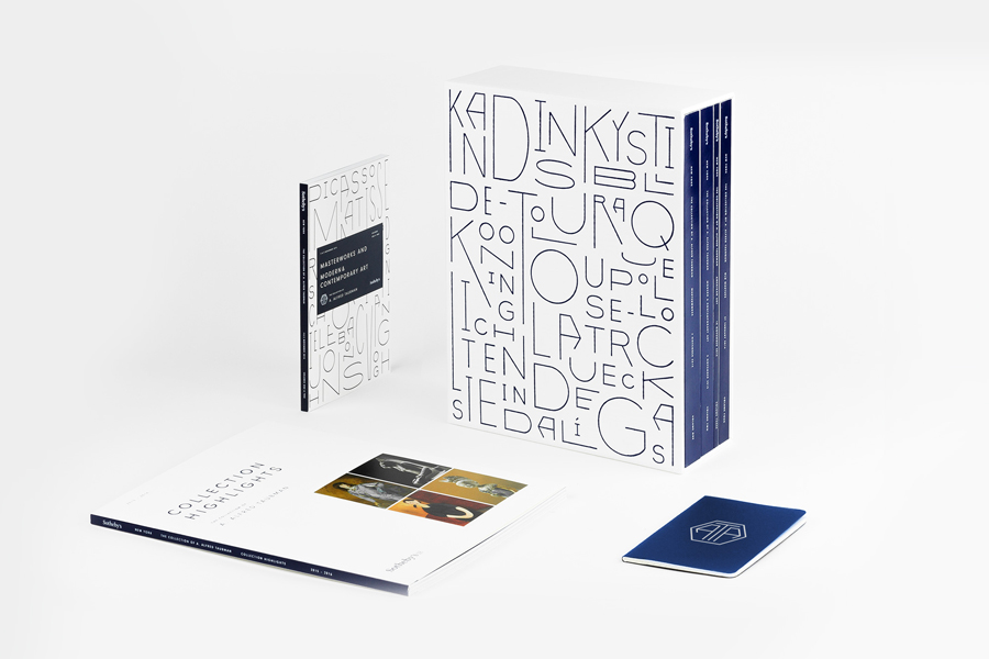 Visual identity and four-volume catalogue for The Collection of A. Alfred Taubman by Brooklyn based graphic design studio Franklyn