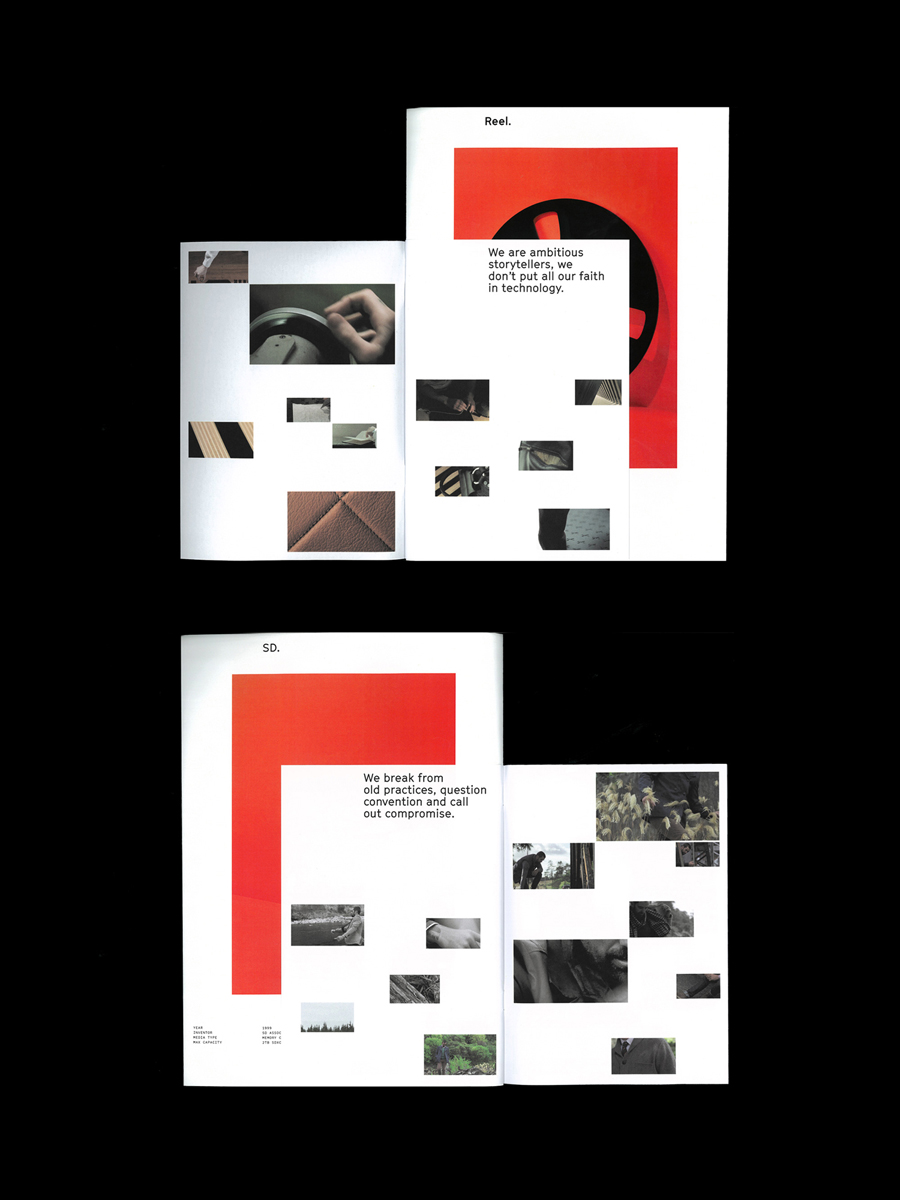 Print for Auckland based digital production company Reel by graphic design studio Richards Partners