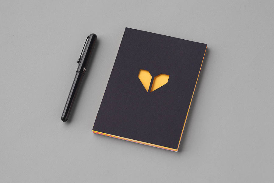 Notebook design by Atipo for print production studio Minke